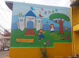 Foto do local pintado.